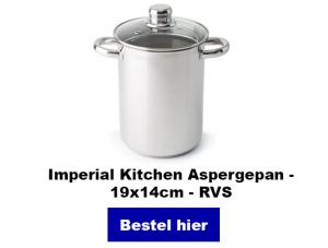 Asperge koken pan